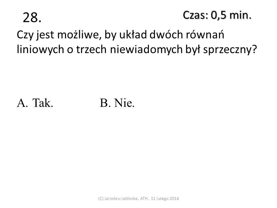 27. Czas: 0,5 min. (C) Jarosław Jabłonka, ATH, 11 lutego 2014