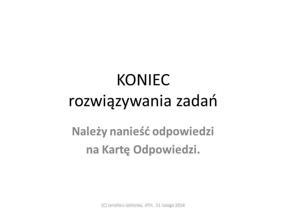 29. Czas: 0,5 min. (C) Jarosław Jabłonka, ATH, 11 lutego 2014