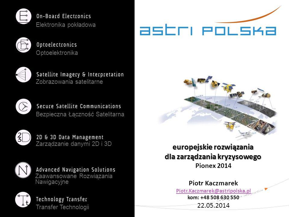 Elektronika pokładowa Optoelektronika Zobrazowania satelitarne Bezpieczna Łączność Satelitarna Zarządzanie danymi 2D i 3D Zaawansowane Rozwiązania Naw