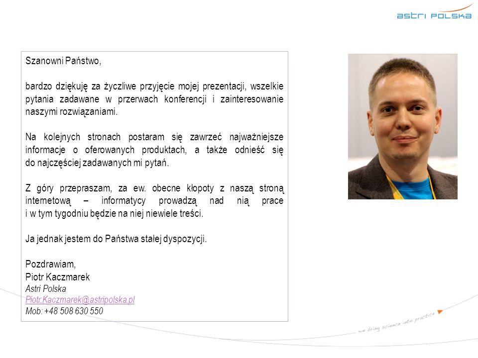 Dziękuję za uwagę zapraszam do kontaktu i współpracy www.astripolska.pl www.astripolska.pl Piotr Kaczmarek Piotr.Kaczmarek@astripolska.pl Piotr.Kaczmarek@astripolska.pl +48 508 630 550