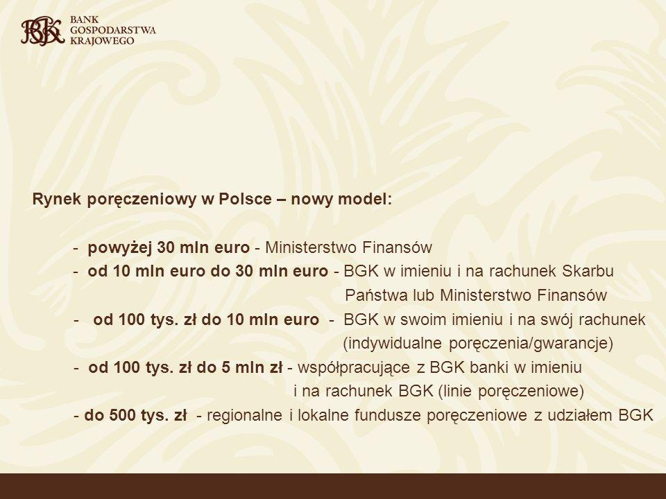 3 Rozwój systemu poręczeniowego w Polsce (1/2): 9 X 2001 r.
