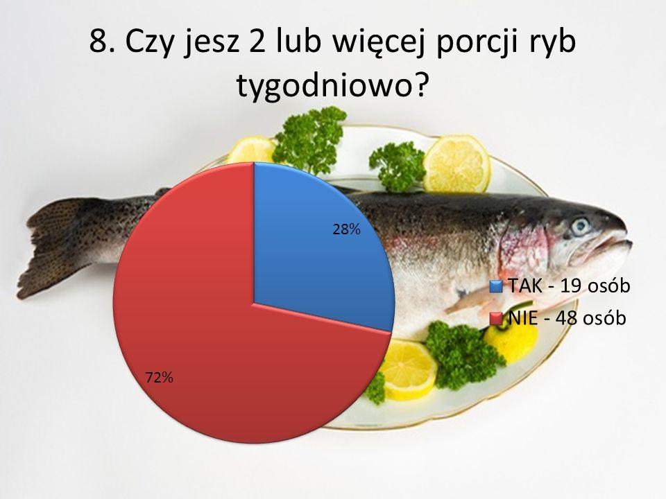 7. Czy spożywasz regularnie 5 posiłków w ciągu dnia