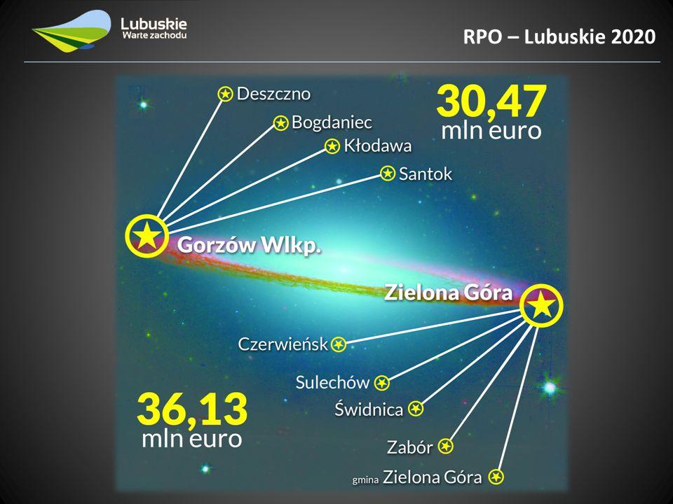 Strategia Rozwoju Polski Zachodniej RPO – Lubuskie 2020 Dokument będący oddolną inicjatywą pięciu marszałków Polski Zachodniej: 1.