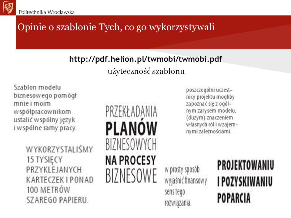 Opinie o szablonie Tych, co go wykorzystywali http://pdf.helion.pl/twmobi/twmobi.pdf użyteczność szablonu