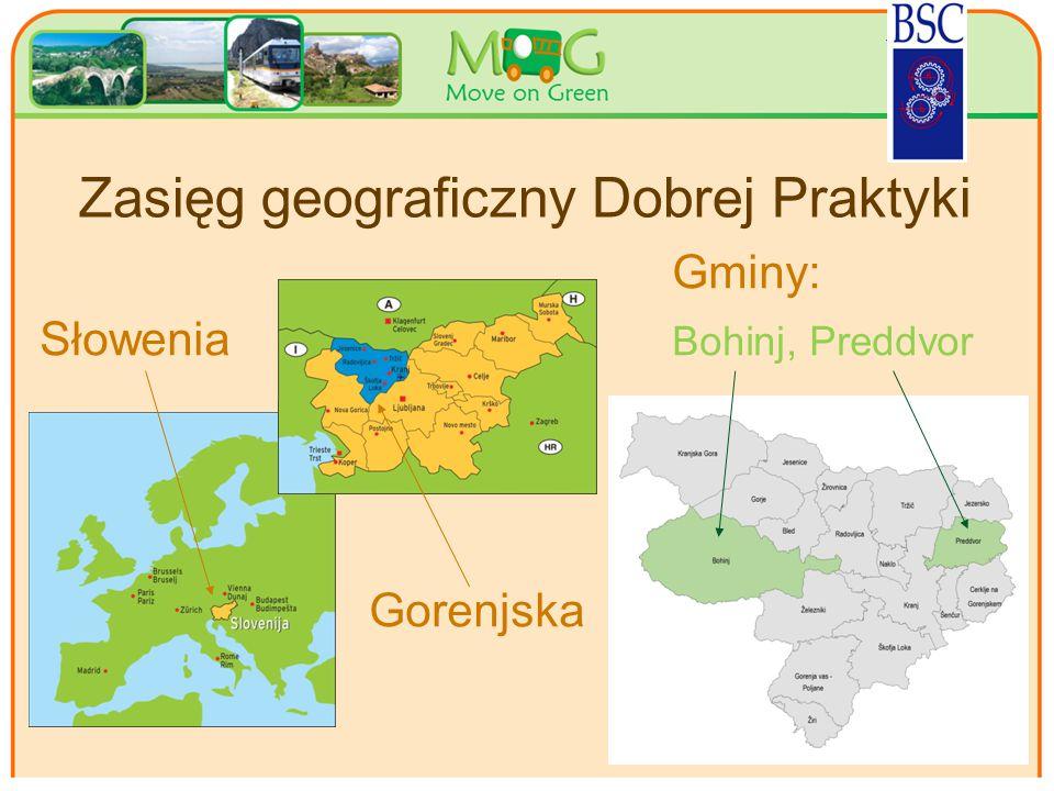 Your logo Here Zasięg geograficzny Dobrej Praktyki Gminy: Słowenia Bohinj, Preddvor Gorenjska 2