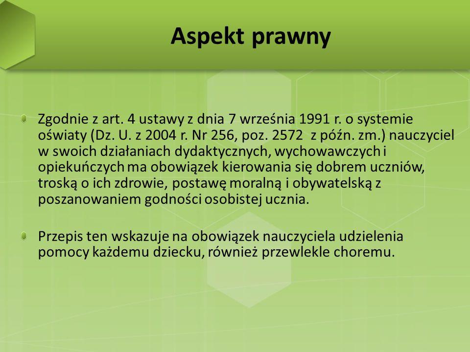 Zgodnie z art. 4 ustawy z dnia 7 września 1991 r. o systemie oświaty (Dz. U. z 2004 r. Nr 256, poz. 2572 z późn. zm.) nauczyciel w swoich działaniach