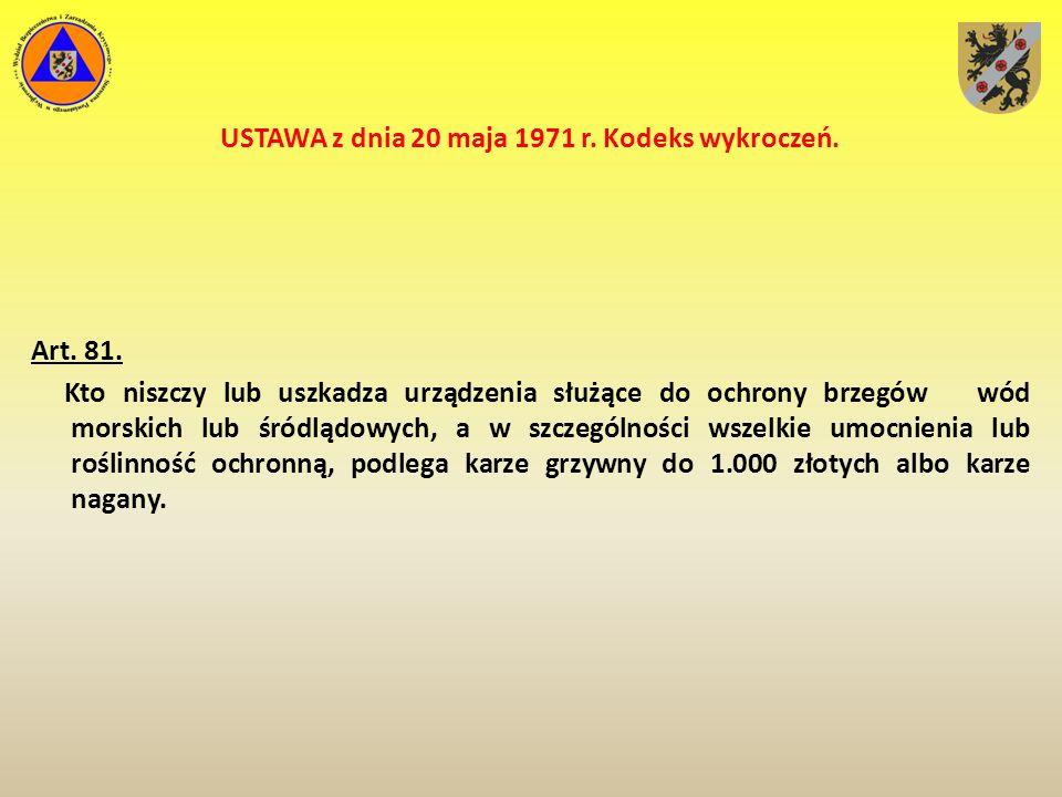 USTAWA z dnia 18 sierpnia 2011 r.o bezpieczeństwie osób przebywających na obszarach wodnych Art.