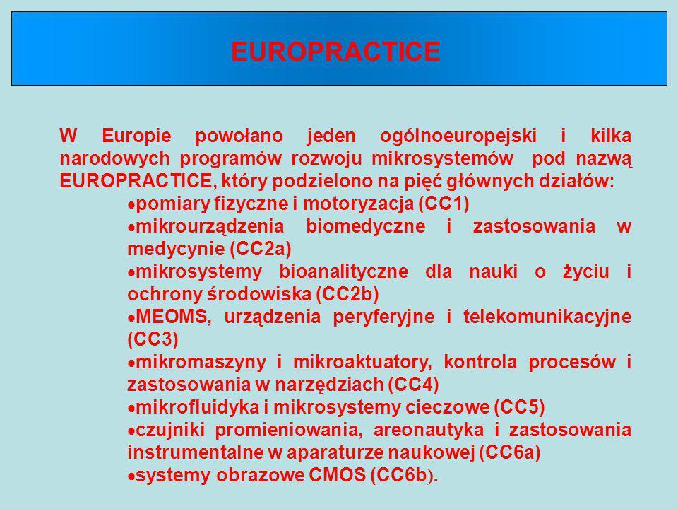 W Europie powołano jeden ogólnoeuropejski i kilka narodowych programów rozwoju mikrosystemów pod nazwą EUROPRACTICE, który podzielono na pięć głównych