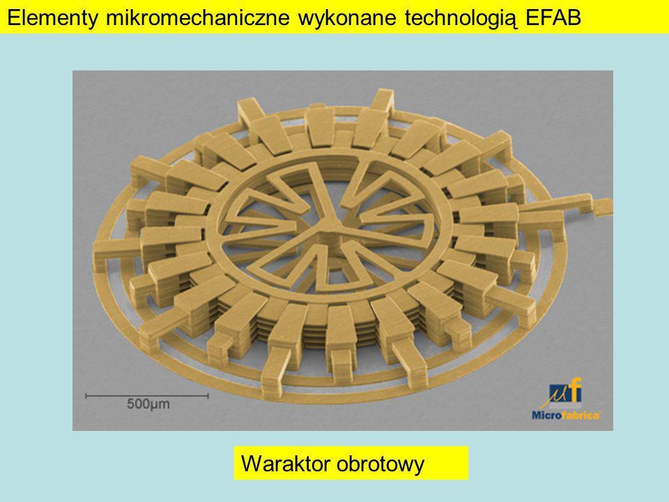 Linia opóźniająca Scaner Projekt w CADWykonanie Elementy mikromechaniczne wykonane technologią EFAB