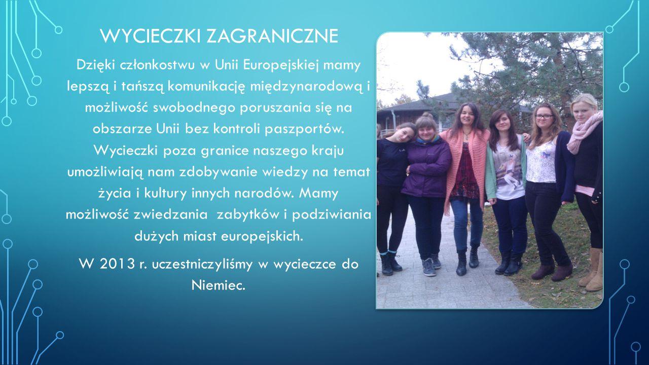 Z funduszów pochodzących z Unii Europejskiej uczniowie gimnazjum mają zapewnione ciekawe lekcje dzięki tablicom multimedialnym.