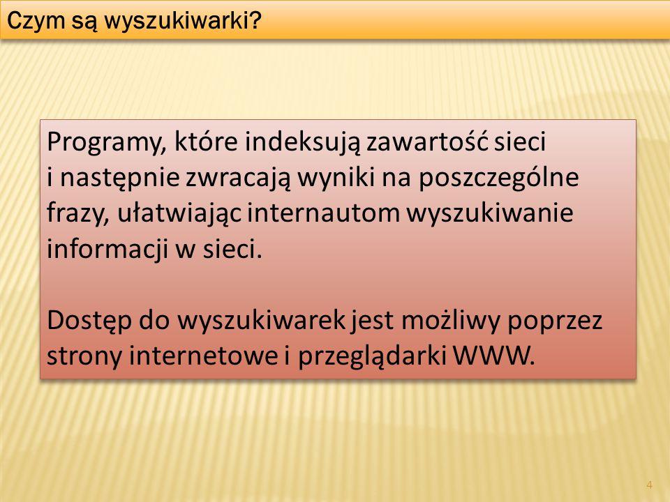 Rynek wyszukiwarek internetowych w Polsce 5 ranking.pl