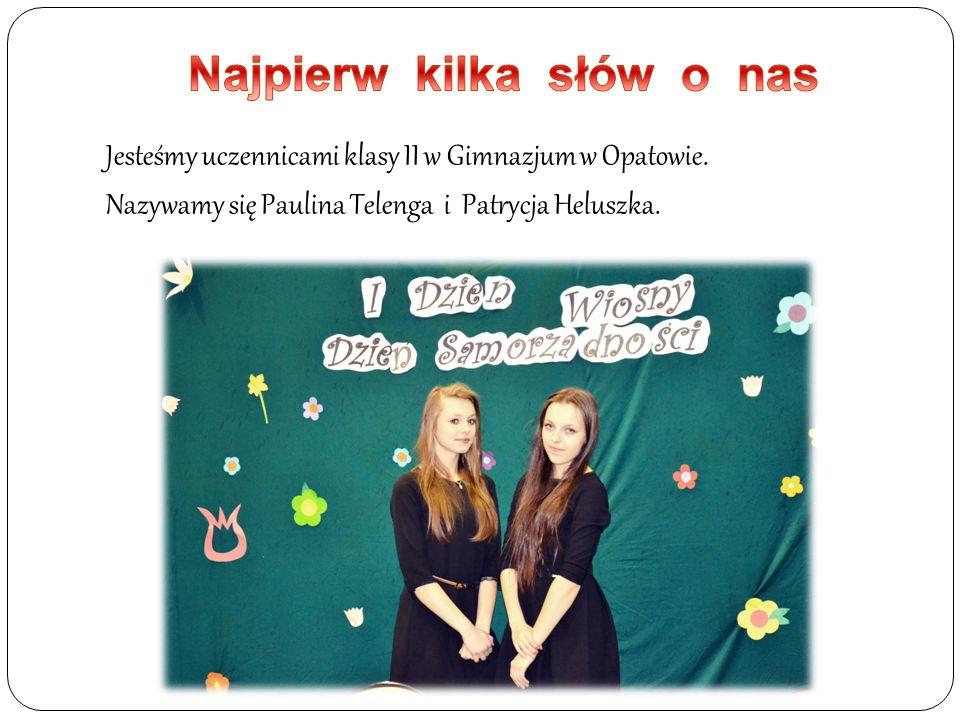 Jesteśmy uczennicami klasy II w Gimnazjum w Opatowie. Nazywamy się Paulina Telenga i Patrycja Heluszka.