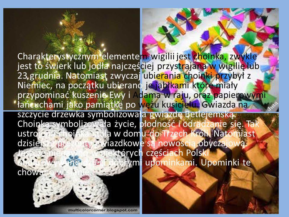 Według Górno Śląskiej tradycji w większości domów zachowywanej po dzisiejszy dzień, do Wigilii zasiadano z chwilą ukazania się pierwszej gwiazdki, wyp