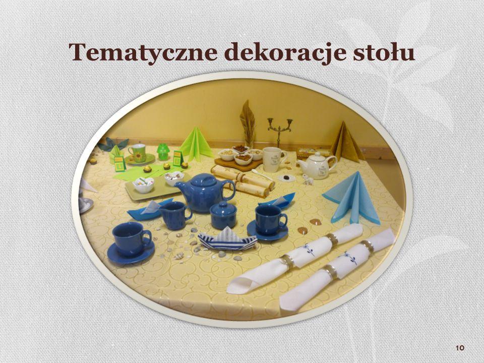 10 Tematyczne dekoracje stołu