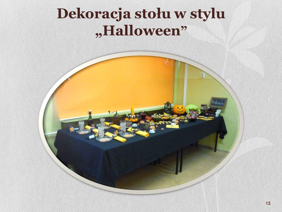"""Dekoracja stołu w stylu """"Halloween 12"""