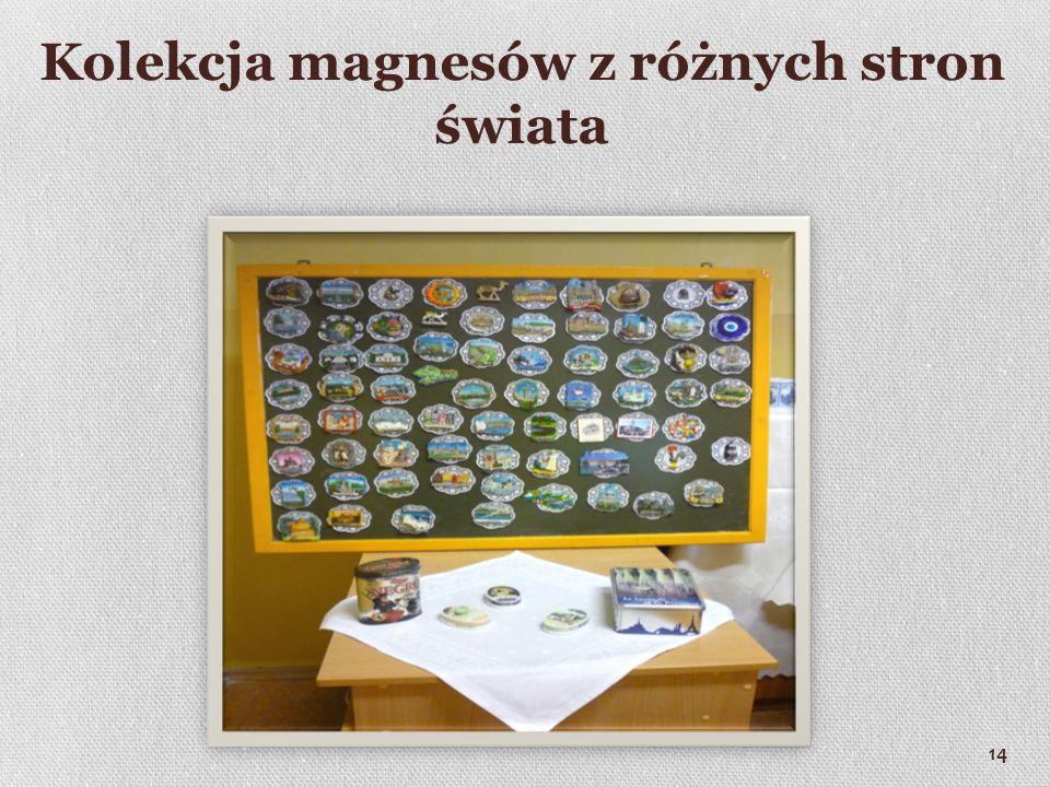 Kolekcja magnesów z różnych stron świata 14