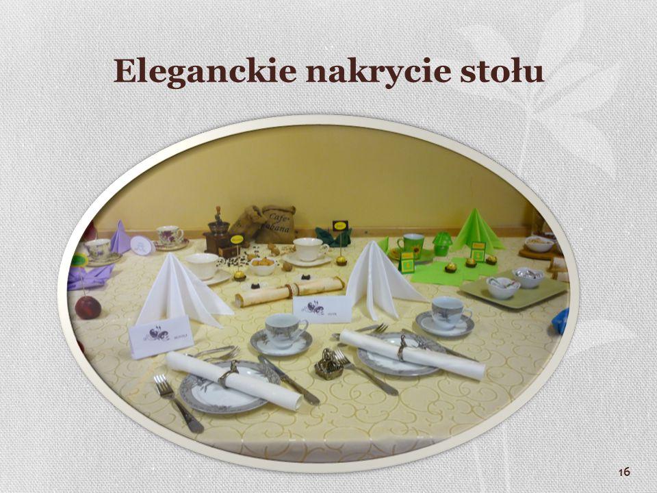 16 Eleganckie nakrycie stołu