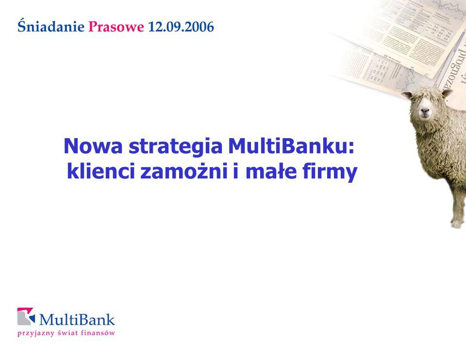 Nowa strategia MultiBanku: klienci zamożni i małe firmy