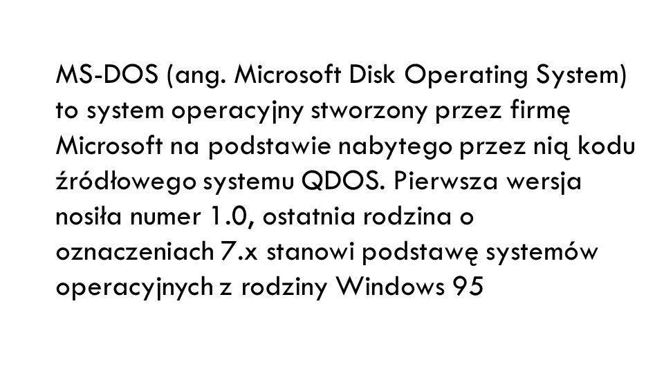 System DOS nadal jest używany na komputerach PC niewymagających zaawansowanych rozwiązań informatycznych, np.