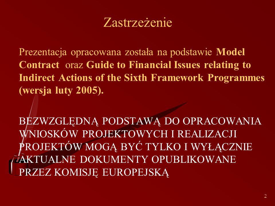 33 Modele rozliczania kosztów Model FCModel FC-mogą używać wszyscy uczestnicy z wyjątkiem osób fizycznych, które mogą stosować jedynie model AC Model FCFModel FCF-MŚP, organizacje nie-komercyjne lub typu non-profit ustanowione w oparciu o przepisy prawa publicznego lub prywatnego, organizacje międzynarodowe