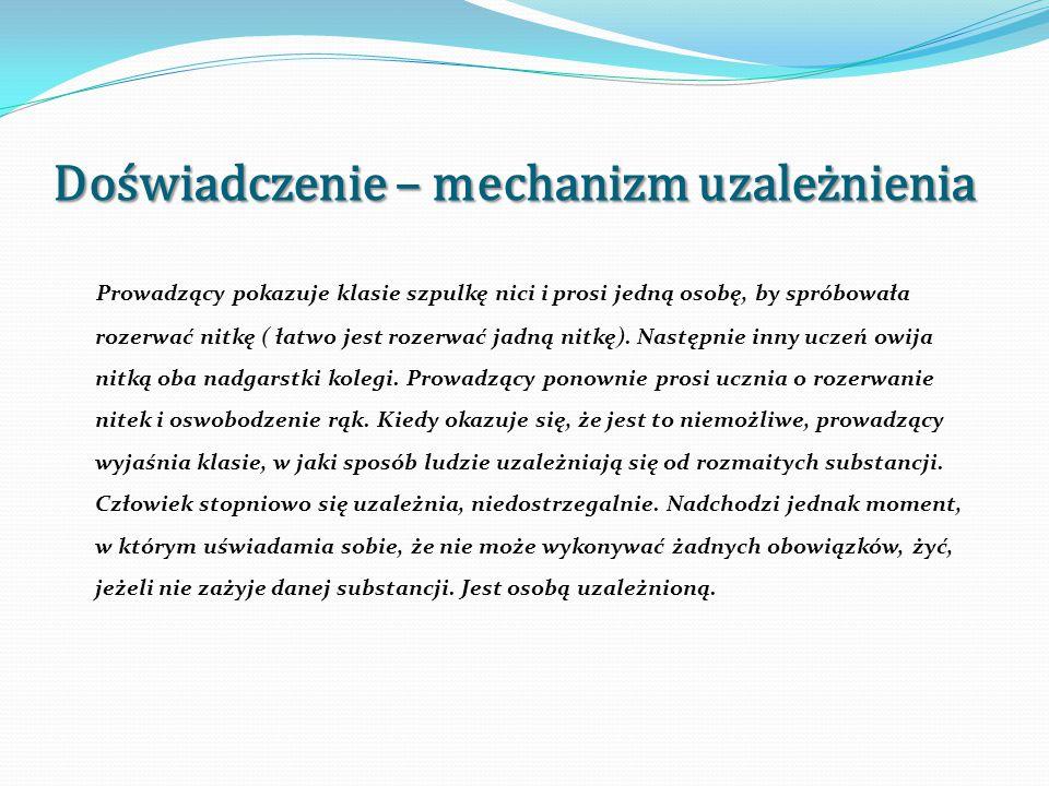 Wykład – Substancje uzależniające I.Nikotyna ( składnik dymu tytoniowego) II.