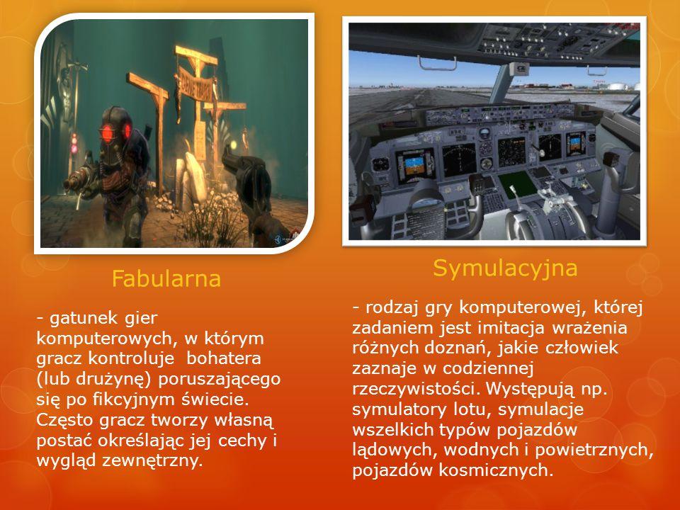 Fabularna Symulacyjna - gatunek gier komputerowych, w którym gracz kontroluje bohatera (lub drużynę) poruszającego się po fikcyjnym świecie.