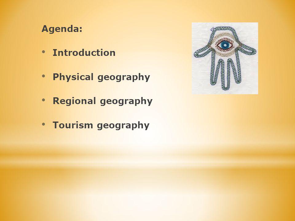 Ta część turystyki jest istotna dla tego regionu ze względu na kilka aspektów: Zasoby naturalne (Może Martwe) Tradycje (np.