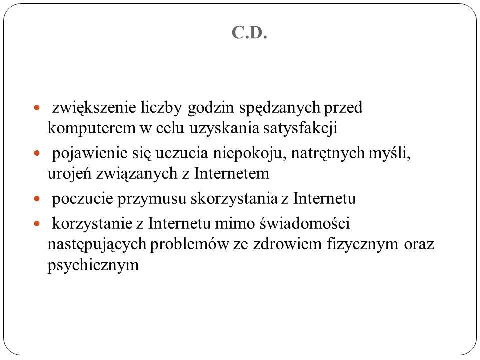 POMOC DLA OFIAR UZALEŻNIONYCH OD INTERNETU Przy Instytucie Psychologii Zdrowia PTP działa pierwszy w Polsce telefon zaufania dla osób cierpiących z powodu uzależnień behawioralnych, tj.