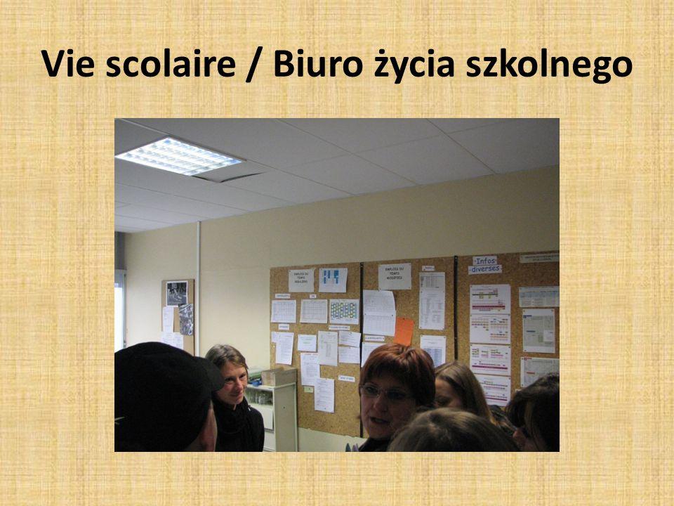 Vie scolaire / Biuro życia szkolnego
