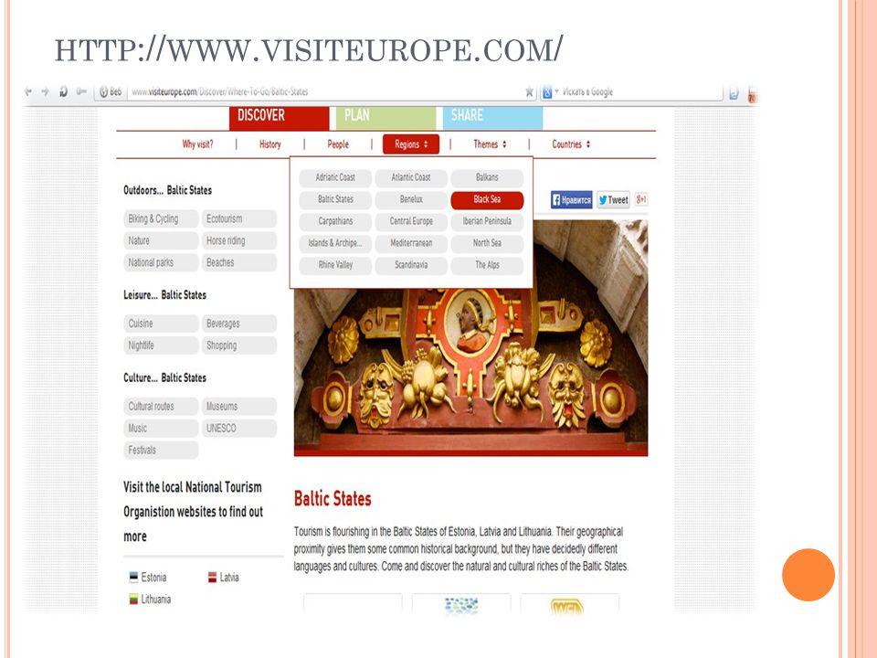 HTTP :// WWW. VISITEUROPE. COM /