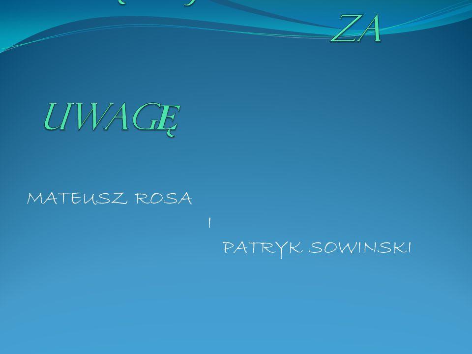MATEUSZ ROSA I PATRYK SOWINSKI