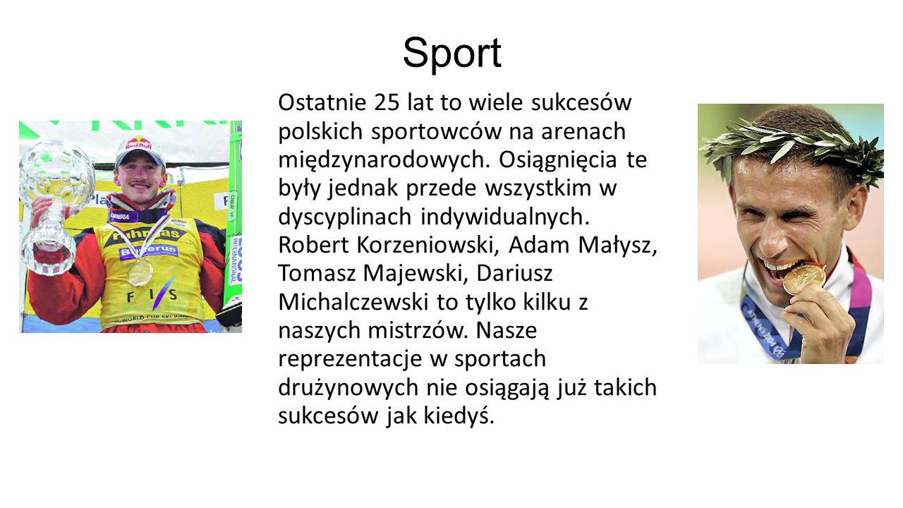 Sport Ostatnie 25 lat to wiele sukcesów polskich sportowców na arenach międzynarodowych. Osiągnięcia te były jednak przede wszystkim w dyscyplinach in