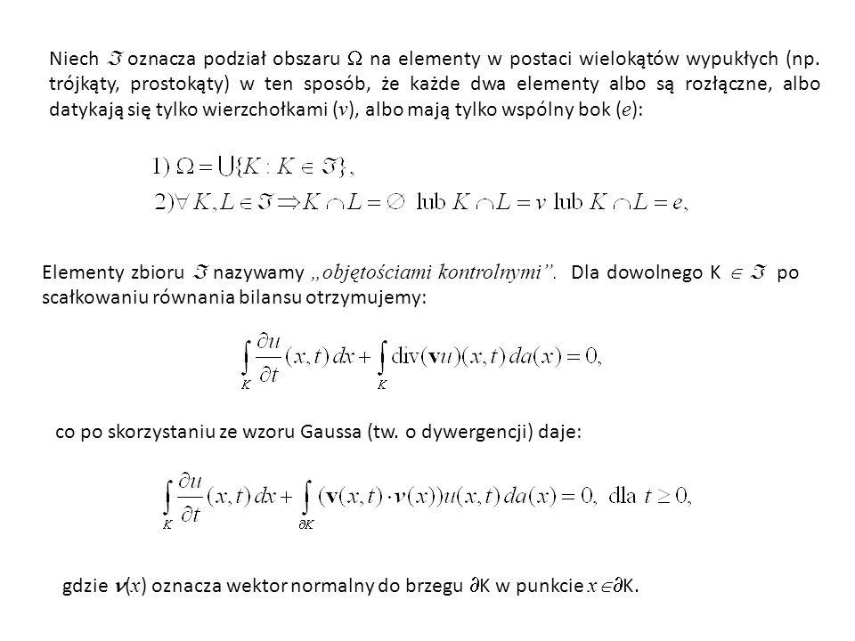 Niech  oznacza podział obszaru  na elementy w postaci wielokątów wypukłych (np.