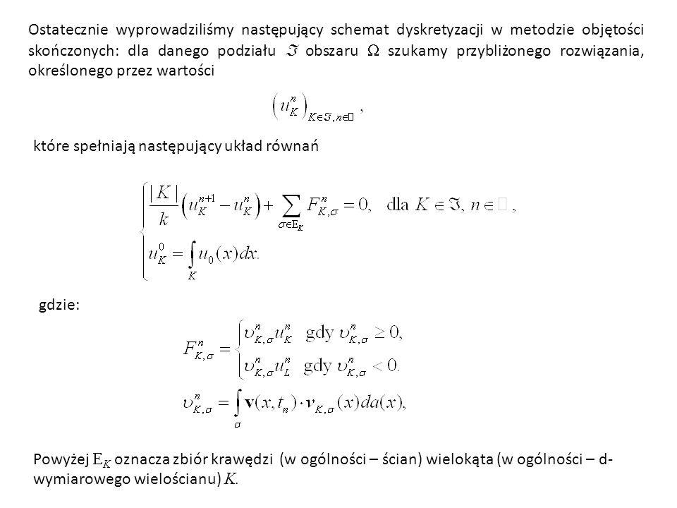 Zauważmy, że ta aproksymacja jest zgodna w tym sensie, że dla u  C 2 ([0, 1], R ) zachodzi Wracając do równości mamy Całki aproksymujemy na ogół numerycznie.