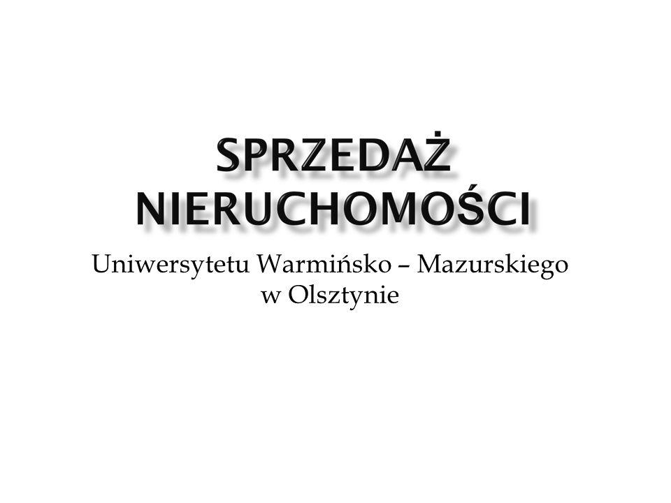 Uniwersytetu Warmińsko – Mazurskiego w Olsztynie