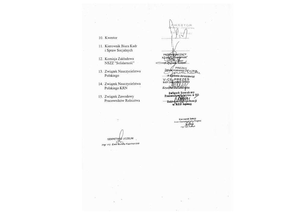 Na podstawie Regulaminu sprzedaży nieruchomości UWM Komisja powołana przez JM Rektora czuwała nad ustaleniem: a) ceny sprzedaży b) formy płatności c) zasad sporządzenia listy rankingowej d) treści ogłoszenia e) przyjęcia harmonogramu prac Zgodnie z § 13 pkt 2 Regulaminu Wykaz gruntów, o których mowa w pkt 1, z podziałem na działki budowlane i informacjami niezbędnymi do zawarcia aktu notarialnego wynikającymi z obowiązującego prawa o ewidencji gruntów, opracowuje administracja podległa Kanclerzowi.