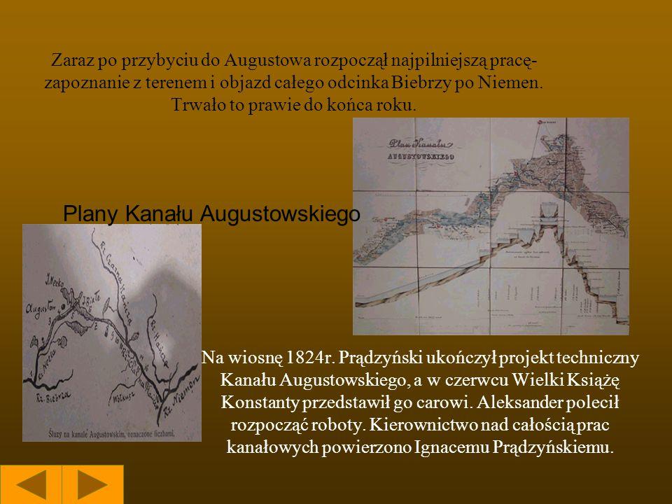 W maju w liście do matki pisał o nowych zadaniach związanych z projektowaniem kanału, który miał połączyć Narew z Niemnem.