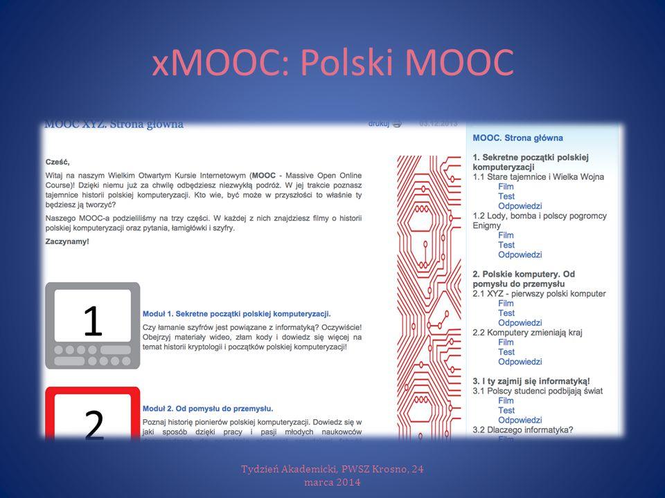 xMOOC: Polski MOOC Tydzień Akademicki, PWSZ Krosno, 24 marca 2014