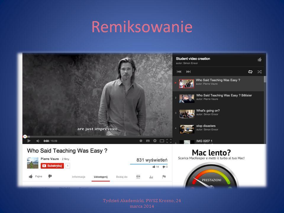 Remiksowanie Tydzień Akademicki, PWSZ Krosno, 24 marca 2014
