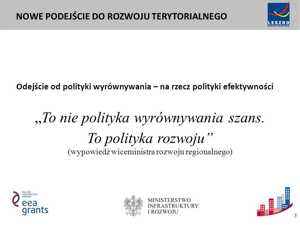 Nowe regulacje europejskiej polityki spójności i polskiej polityki rozwoju wprowadzają nacisk na terytorialny wymiar polityk publicznych.
