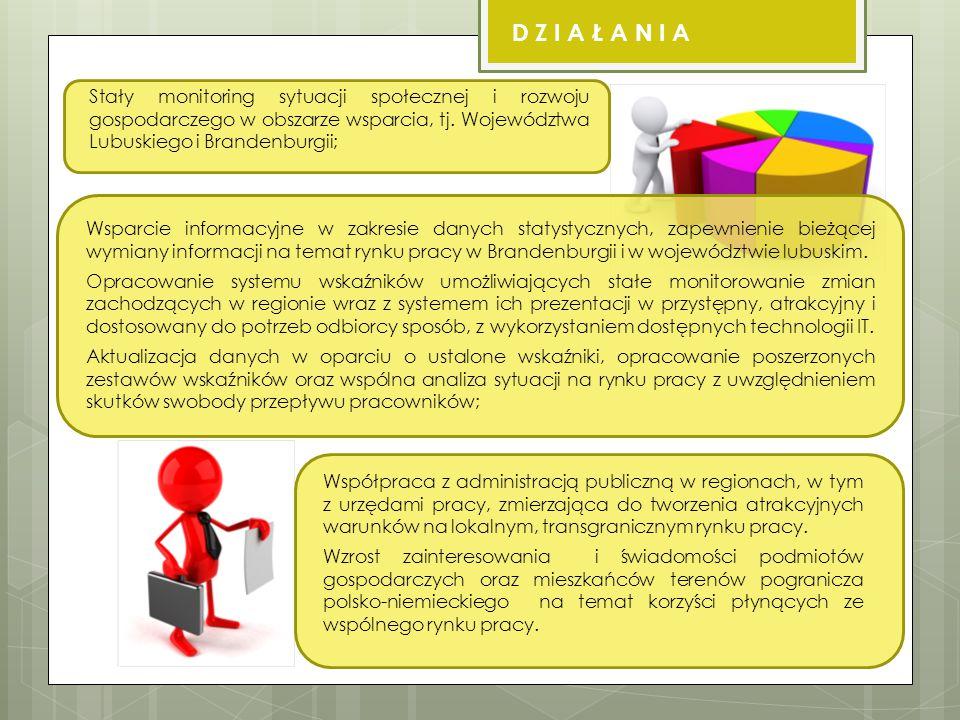 Stały monitoring sytuacji społecznej i rozwoju gospodarczego w obszarze wsparcia, tj.