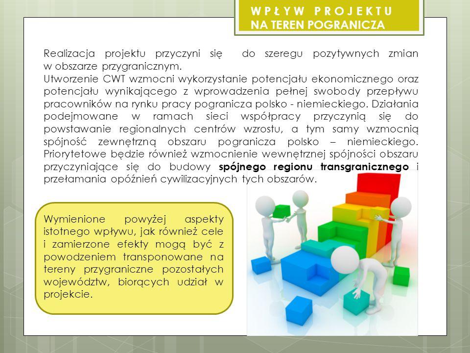 Realizacja projektu przyczyni się do szeregu pozytywnych zmian w obszarze przygranicznym.