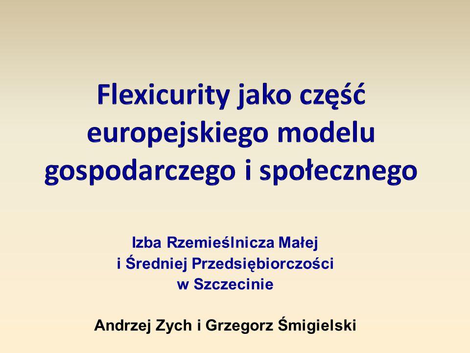 Socjalny model zatrudnienia polegający na połączeniu elastyczności pracy i bezpieczeństwa socjalnego.