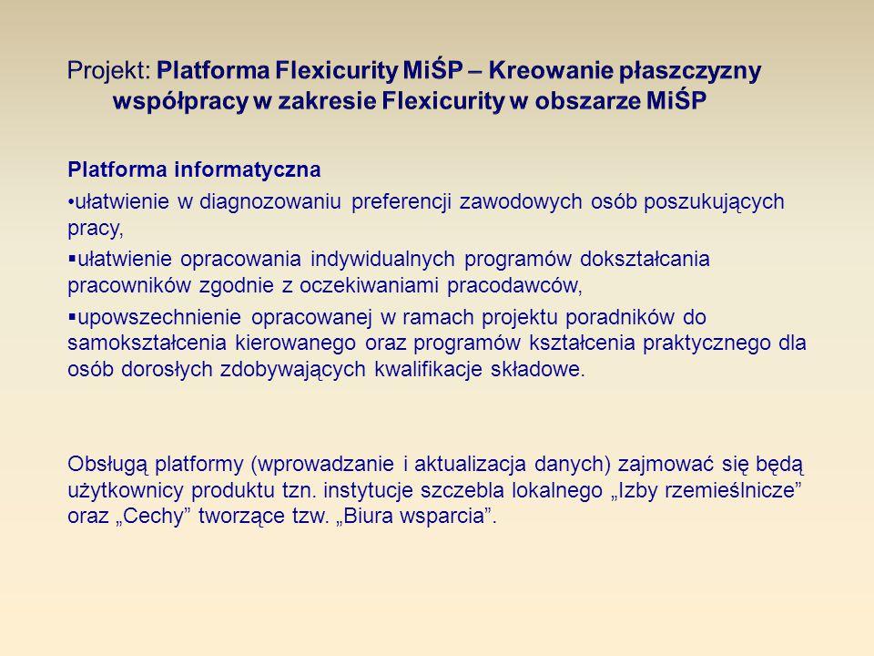Platforma informatyczna ułatwienie w diagnozowaniu preferencji zawodowych osób poszukujących pracy,  ułatwienie opracowania indywidualnych programów