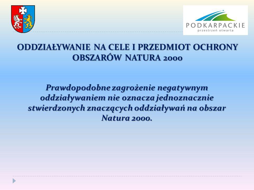 Prawdopodobne zagrożenie negatywnym oddziaływaniem nie oznacza jednoznacznie stwierdzonych znaczących oddziaływań na obszar Natura 2000.