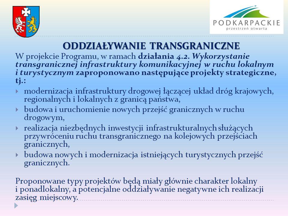 W projekcie Programu, w ramach działania 4.2. Wykorzystanie transgranicznej infrastruktury komunikacyjnej w ruchu lokalnym i turystycznym zaproponowan