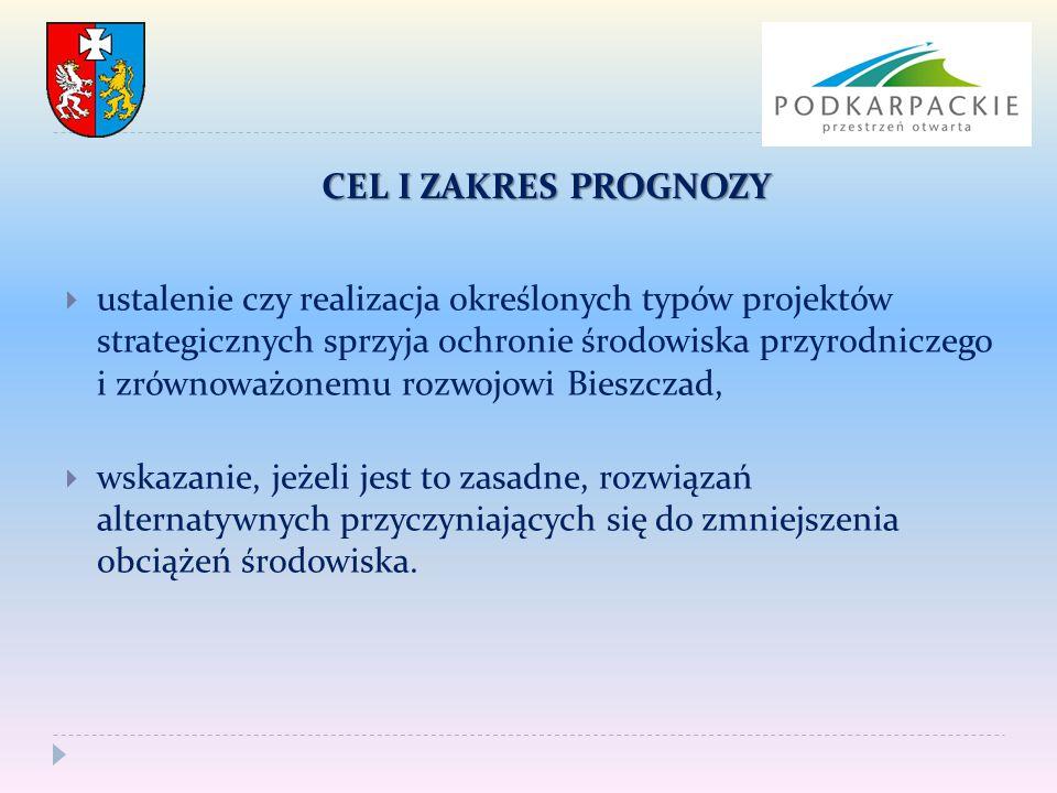 ZAŁOŻENIA  wszystkie realizowane w ramach priorytetów projekty strategiczne będą spełniały wszelkie określone obowiązującym prawem wymagania,  będą stosowane najlepsze i najnowocześniejsze techniki i technologie sprzyjające ochronie środowiska,  szczegółowość Prognozy będzie adekwatna do stopnia szczegółowości analizowanego dokumentu.