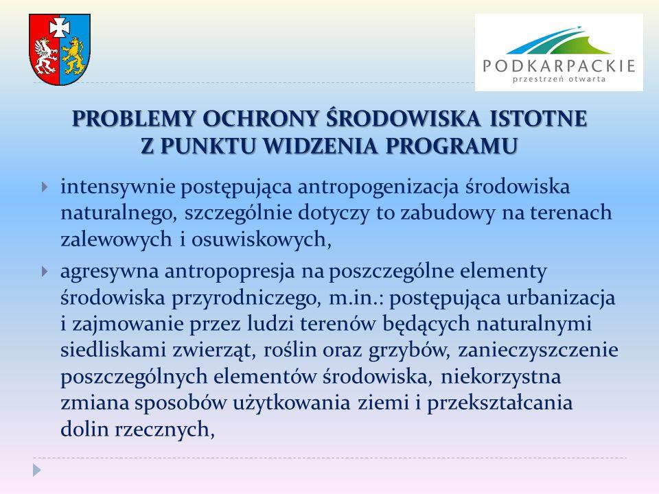 WNIOSKI  Ocena potencjalnych oddziaływań ma charakter hipotetyczny ze względu na bardzo ogólny charakter projektu Programu.