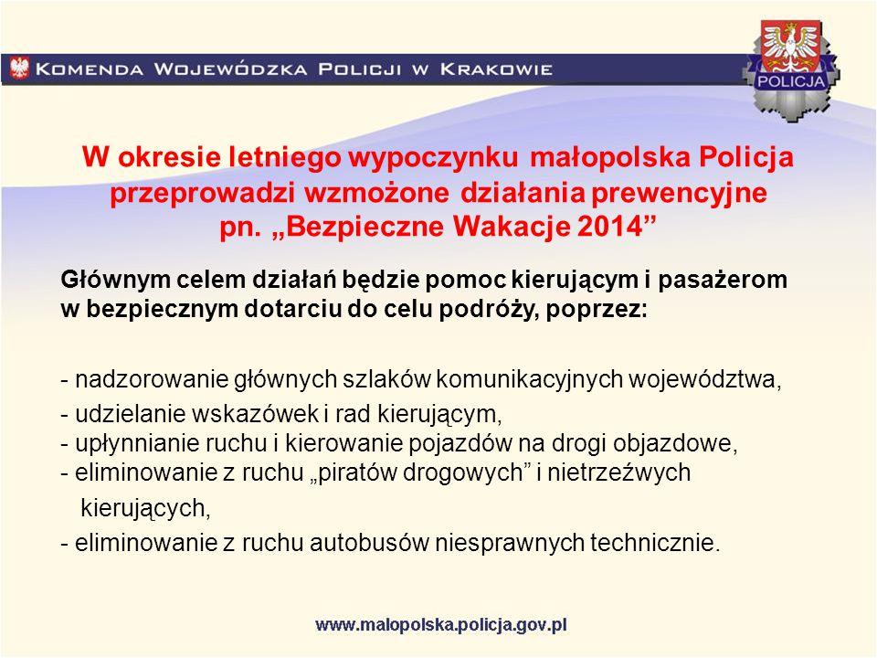 Policyjne kontrole autokarów