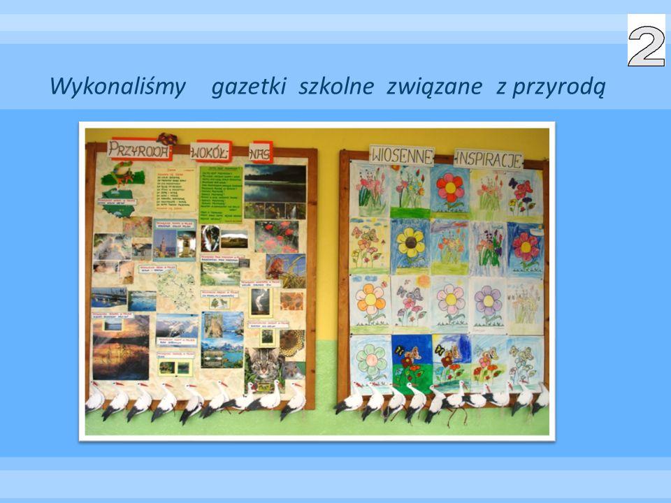 Wykonaliśmy gazetki szkolne związane z przyrodą